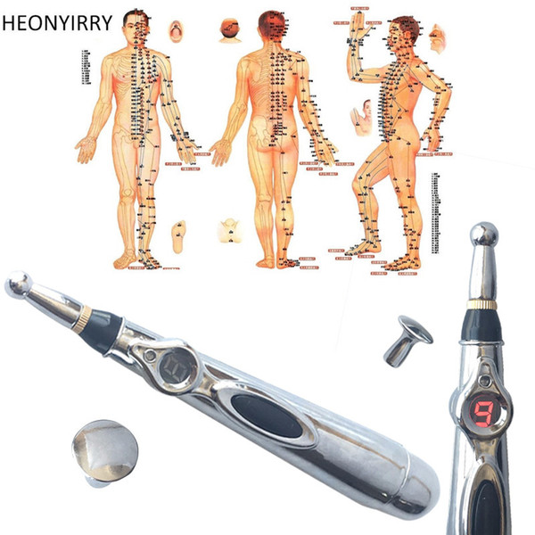 Health Care Electric Meridians Laser Acupuncture Magnet Therapy Instrument Massage Meridian Energy Pen Massager Facial Care Tool