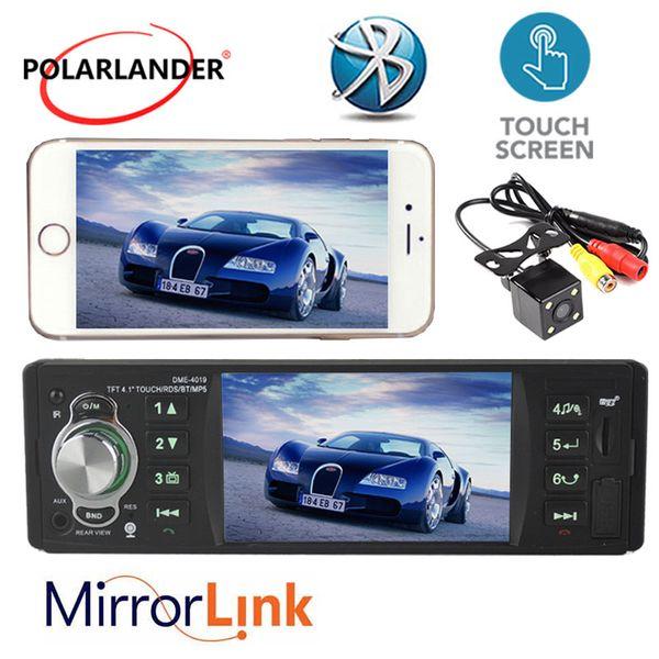 Car Stereo Radio MP3 MP4 4.1 '' schermo di tocco di TFT HD sistema 12V Car Audio RDS / FM / USB / SD / AUX di sostegno posteriore macchina fotografica di Bluetooth