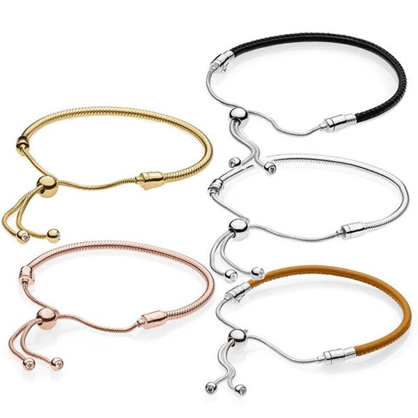 Fashion 925Sterling Solid Silver Jewelry Circel T-O Bracelet For Women H022