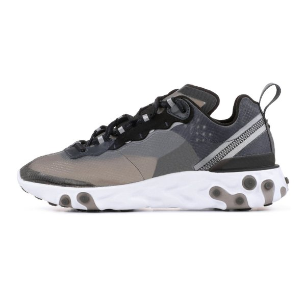 2019 Fashion off Brand men platform women canvas shoes man athletic trainers white casual sneakers UNDERCOVER React Element 87