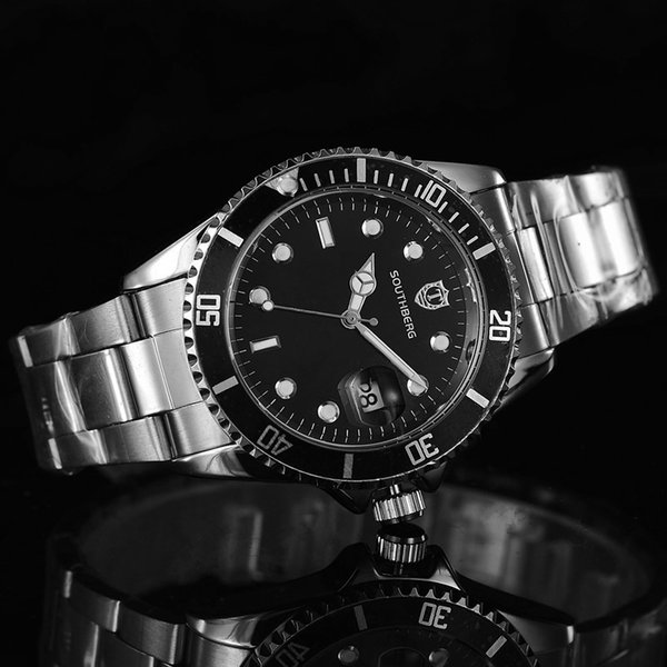 Mann-Quarz-Batterie-Uhr-Edelstahl-Band Luxus Armbanduhr Berühmte Marken-Uhr GMT Uhr Mode-Sport-Kalender Uhren