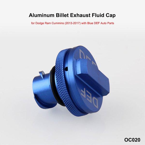 Diesel Fuel Gas Cap /& DEF Cap Blue for 2013-2017 Dodge Ram Magnetic Aluminum New
