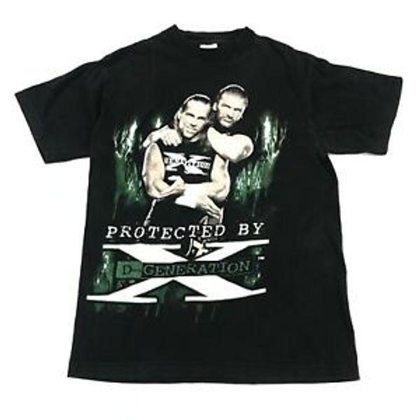 Vintage Shawn Michaels D Nesil X T Gömlek WWF Komik Üçlü H Yetişkin Küçük WCW