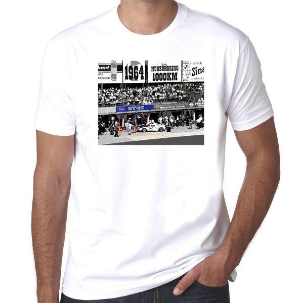 Ford Gt40 Nuremberg Ring 1964 vintage motorsport Buy 100% cotton mens tshirt Printed Men T-Shirt Short Sleeve Funny Tee Shirts