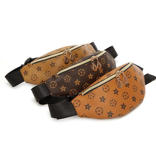 Letter waist pack Shoulder shell Bag chest crossbody Handbag fashion lady phone storage pouch party pack zipper gift bag FFA2108