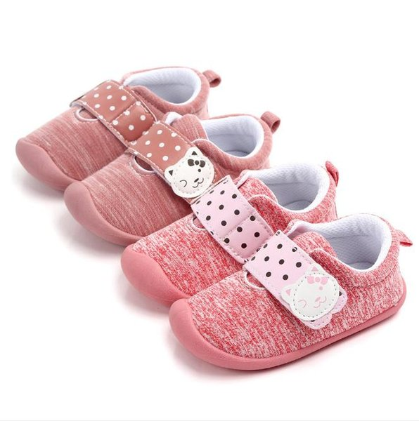 Kids Toddler Shoes For Baby Girls Children Casual Sneakers Soft Running Sports Shoes Pink Spring/Autumn Girl Shoes