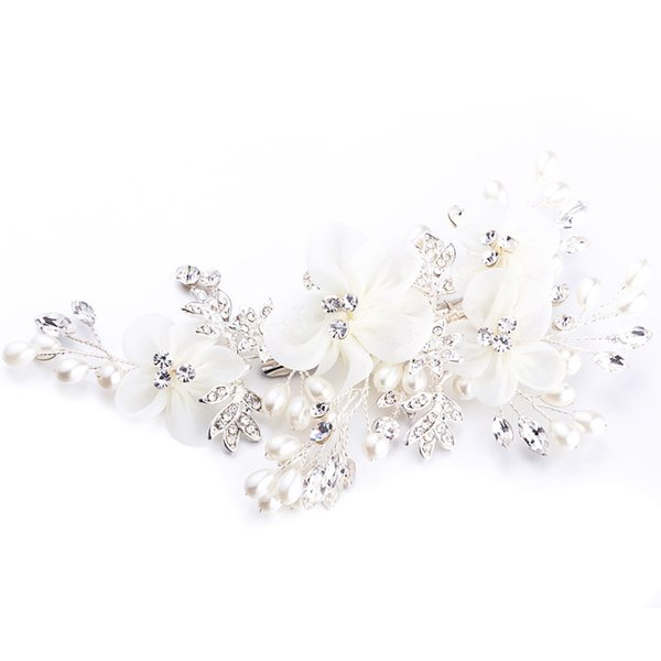 NPASON 2019 Fashion Comb Design Headwear Luxurious Wedding Dress Accessories Handmade Photography Ornaments Hot Sell J604