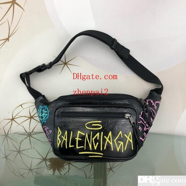 2019 The new listing waist fanny pack fashion high quality Imported scented graffiti waist Decadence