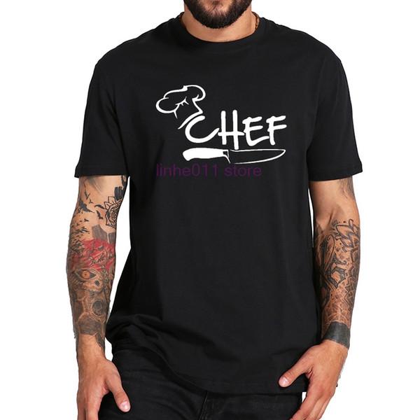 Chef T shirt Engraçado Cozinhe Tee cap faca de cozinha Epicure Roupas de Alta Qualidade O-pescoço Tops Algodão Restaurante T-shirt Dos Homens