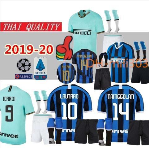 2019-20 LAUTARO VECINO ZANETTI Inter MASHUP Camisas de futebol do 20º ANIVERSÁRIO POLITANO de Milão 19 20 uniformes para camisas de futebol do ICARDI PERISIC