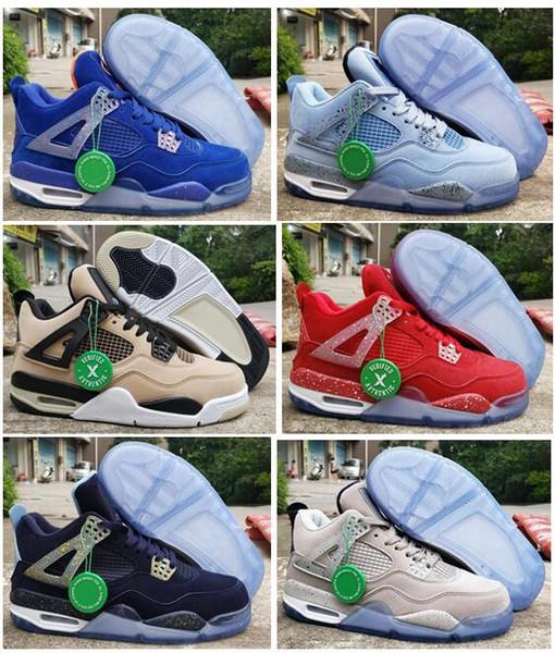 New 4 Florida Gators PE UNC Georgetown Hoyas Oklahoma Sooners Basketball Chaussures Homme Champignon sport Chaussures de sport avec la boîte