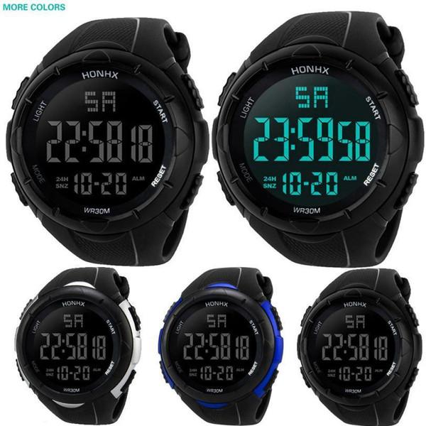 Moment # L05 2018 Luxury Men Analog Digital Military Army LED Waterproof Wrist Watch C19010401