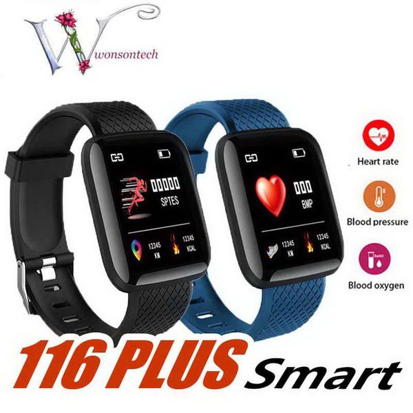 116 Artı Akıllı İzle Erkek Bileklik Spor Izci Nabız Adım Sayacı Aktivite Monitör Bant Bileklik iphone 115 için PK 115 ARTı