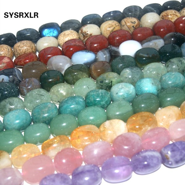 Natural Stone Beads Pink Quartz Amethysts Agates Lapis lazuli Beads For Jewelry Making DIY Bracelet Necklace Earrings 15*20 MM