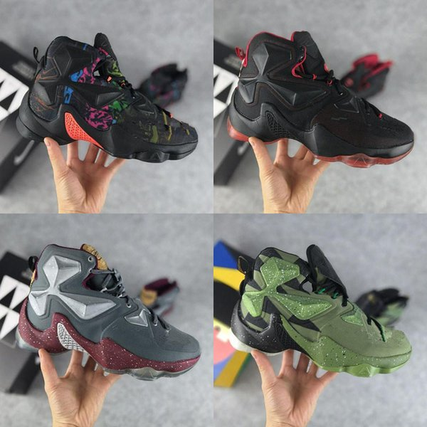 new product 32af7 b5654 2019 Cheap New Mens Lebron 13 XIII Shoes Blue Black Gold BHM Christmas  Easter Halloween James 23 Air Flights Sneakers Tennis For Sale From  Up2_up2, ...