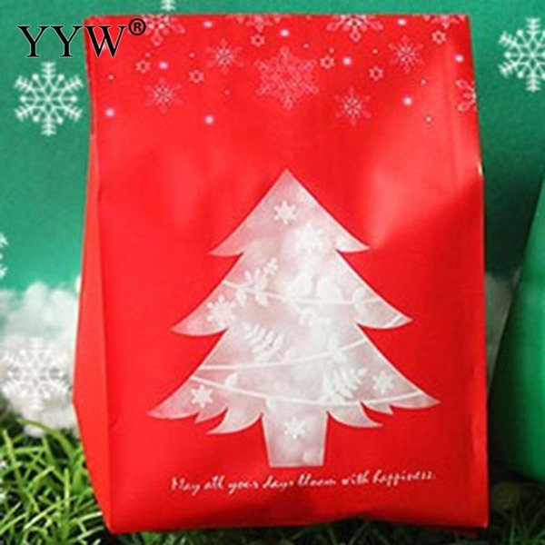 50pcs 95x26x67mm Christmas Jewelry Gifts Box Green Red Christmas Tree Packaging Bracelets Earring Necklace Gift Bags for Jewelry