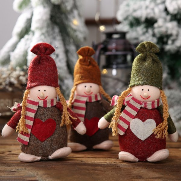 Christmas Xmas Tree Hanging Christmas Knitted Dolls Pendant Home Holiday Figurines Ornaments Decorations navidad 2019