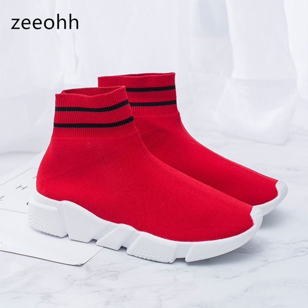 zeeohh Male Sock Boots Breathable Mesh Men High Top Lightweight Sneakers Shoes Breathable River Quick-Dry Beach Walking Shoes