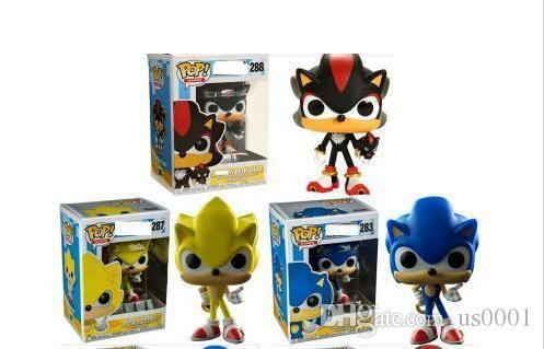 FUNKO POP Sonic Boom Amy Rose Sticks Tails Werehog PVC Action Figures Knuckles Dr. Eggman Anime Pop Figurines Dolls Kids Toys for Childrens