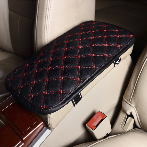 Protège-accoudoirs pour voiture en cuir Console centrale universelle Accoudoirs auto-protecteurs Box Pads Coussin de protection pour accoudoir noir