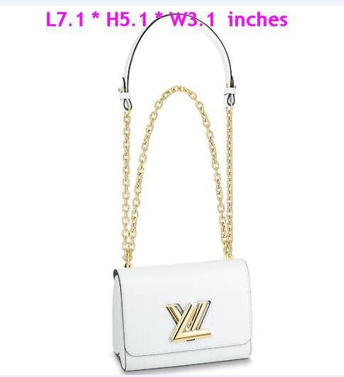 Роскошные дизайнерские сумки Кошельки Сумка Femmes LVLV Твист Сумочка Кожа Epi в стиле Лолиты Все Сумки TWIST PM M52895 Оригинальные подлинные