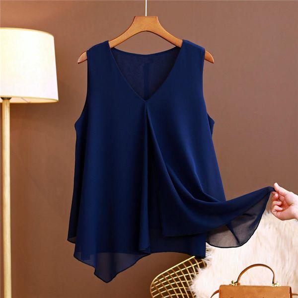 Marineblaue Bluse