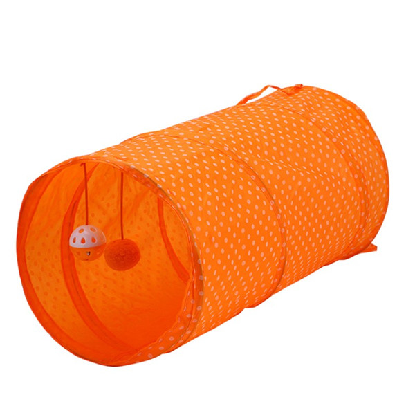 Pet Toys Foldable Tent Cats Dogs Tunnel Dot Polyester Tunnels Toys Funny Interactive Hanging Ball Floor Sports Toy