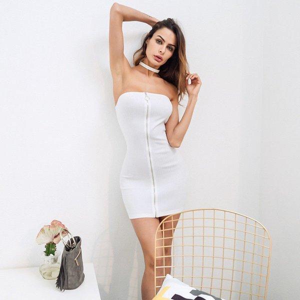 backless dress 2018 fashion mini dress women strapless sheath sexy club wear party elegant dress for women