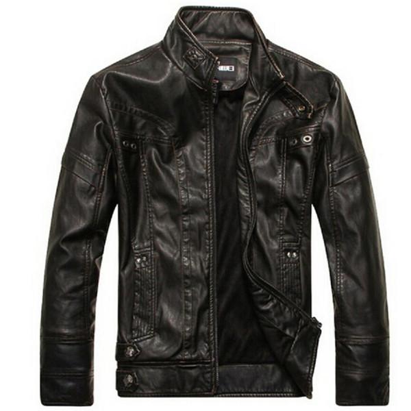 Men's Jacket Spring Autumn motorcycle leather jackets men leather jacket jaqueta de couro masculina,mens leather jackets Parka