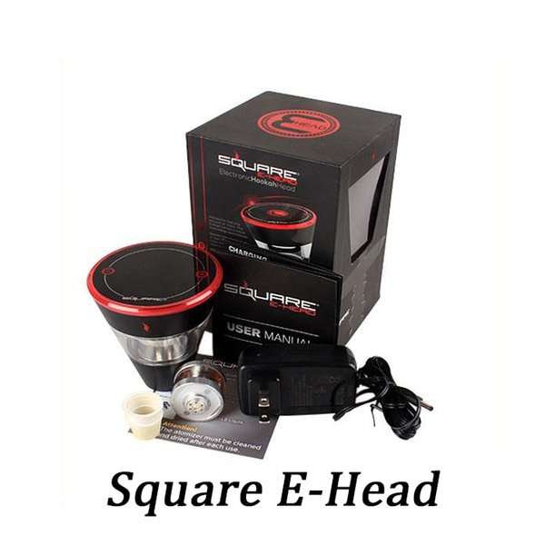 Square E Head Ehead 2400mAh Cartridge Refillable disposable Hookah Rechargeable E-Head Vaporizer ECig Kit Top Quality DHL Free Shipping