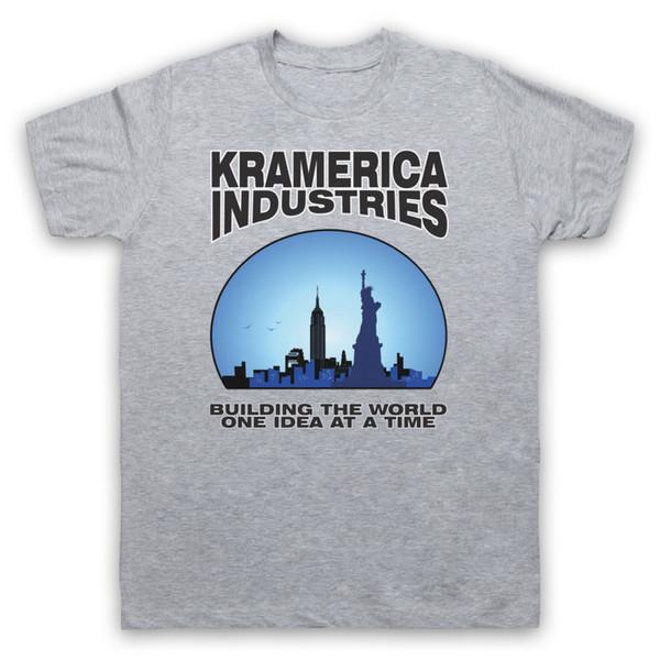 KRAMERICA INDUSTRIES COSMO T-SHIRT KRAMER Kurzarm T-Shirt in Übergröße Farbe Jersey Druck T-Shirt Jersey Druck T-Shirt