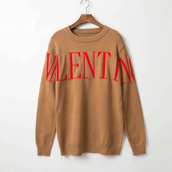 2019 Nuovo marchio di moda autunnale Maglione casual O-Collo a strisce slim fit maglia maglioni e pullover da uomo Pullover da uomo