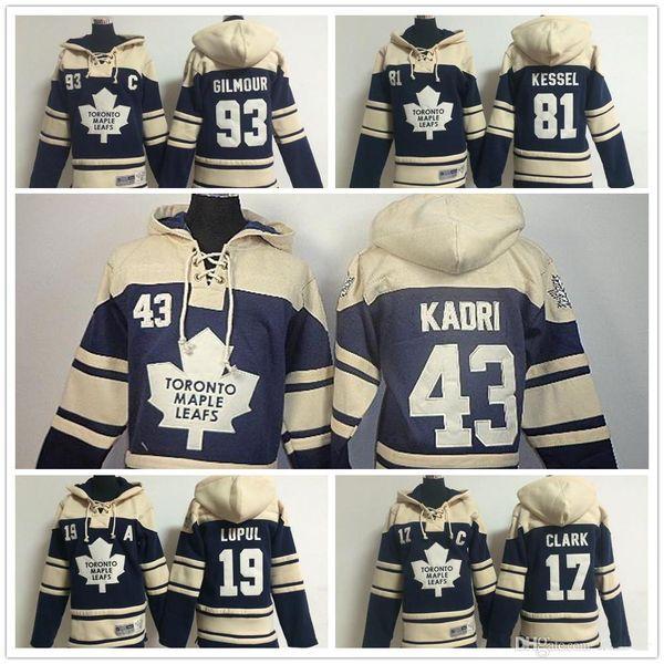 Cheap Jersey Mens Stitched Toronto Maple Leafs hoodies 81 Phil Kessel 17 Wendel Clark 93 doug gilmour Jersey Hockey Hoodies Sweatshirts