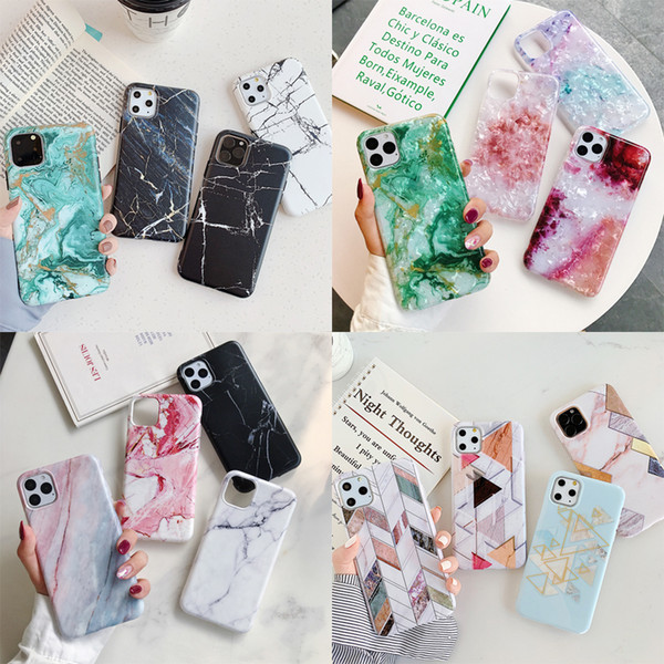 Fa hion marble tone rock imd oft tpu diamond ring tand holder hockproof back ca e for 2019 iphone 11 pro xr x max x 6 6 7 8 plu