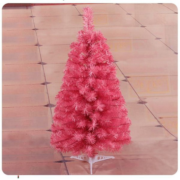 New 2/3 Feet Artificial Christmas tree Holiday Pine Christmas Tree Pink Color Easy to Assemble with Stand