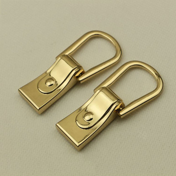 D Ring Hook Buckle Bag Side Buttons DIY Sewing Plating Gold Metal Accessories with Screws for Bag Luggage
