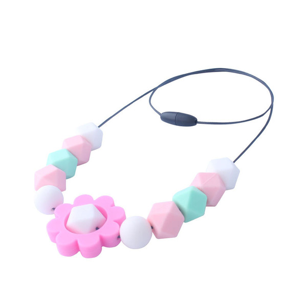 Flower Silicone Teething Beads DIY Baby Nursing Chewable necklace Teether Making