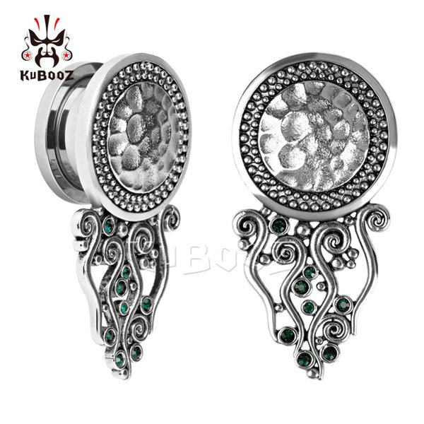 wholesale piercing new arrival stainless steel ear plugs and tunnels screw back ear gauges earring body jewelry expander wholesale