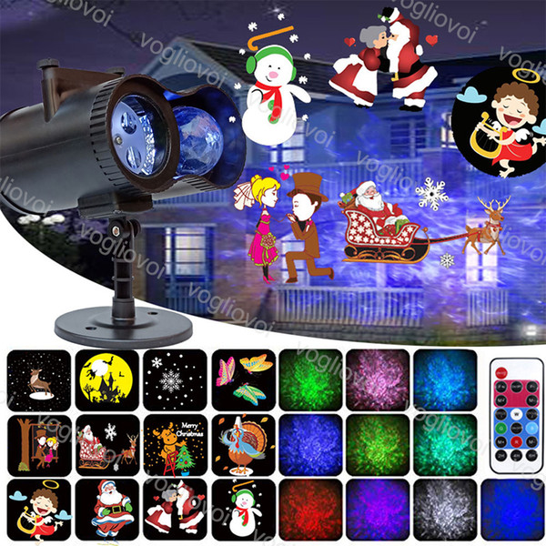 LED Project Lights Wall Decoration Flashing 15W Double Row RGB 12 Pattern Card Dimmable Controller For Halloween Christmas Party DHL