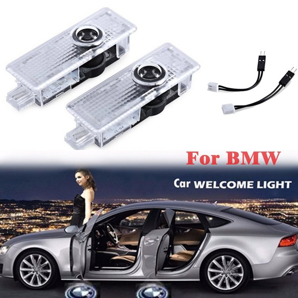 Car Led Door Logo Projector Light For BMW Series 3D Welcome Emblem New