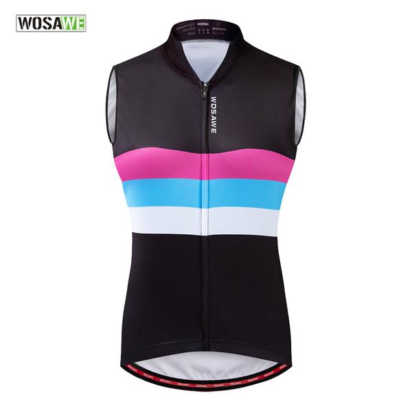 2019 pour les femmes à vélo Gilet d'été Quick Dry respirante manches vélo Jersey Vêtements Vélo Cycle Jersey filles Gilet Riding