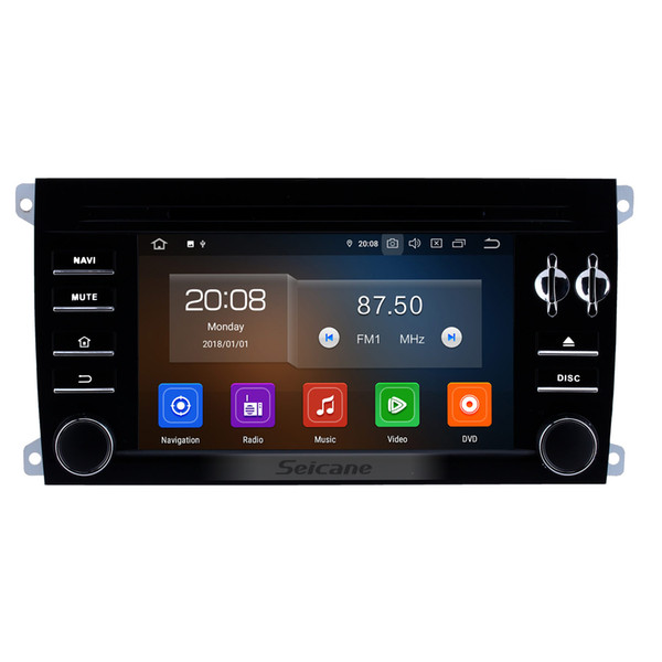 7INCH for 2003-2011 Porsche Cayenne Android 9.0 HD touchscreen Radio Replacement with GPS DVD Player 3G WiFi Bluetooth Music CAR DVR