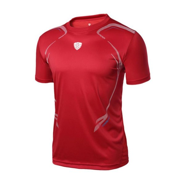 Summer Man gym shirt Running Fitness T-shirt Breathable Quick-Drying Stretch Tops T-shirt Cool Gym Clothing Man Sport