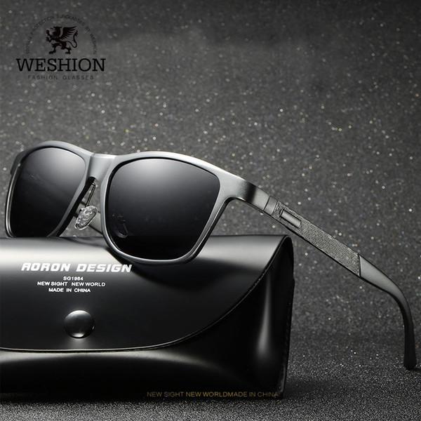 Weshion polarizada óculos de sol das mulheres dos homens clássico magnésio vintage pesca esportiva marca designer de óculos polaroid oculos de sol mx190723