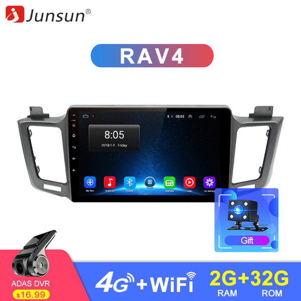 car dvd Junsun 2G+32G Android 8.1 4G Car Radio Multimedia Video Audio Player WiFi Navigation GPS For Toyota RAV4 2013-18 2 Din no DVD
