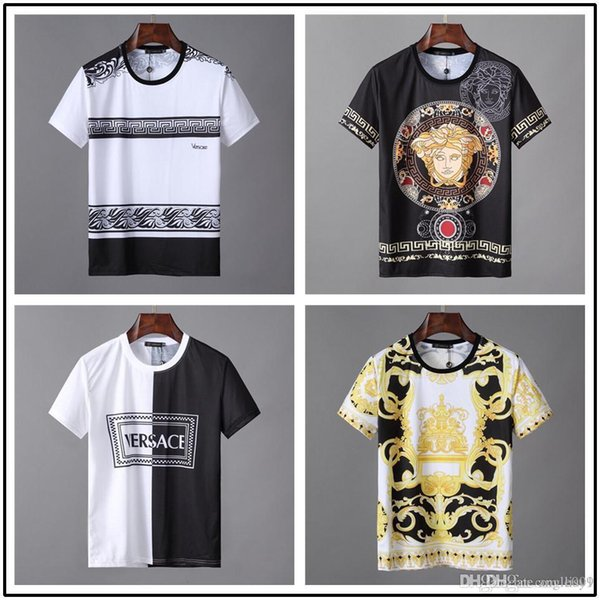 9cbf1a35e05f iduzi Wholesale vogue men and women short-sleeved designer t-shirts round  collar high