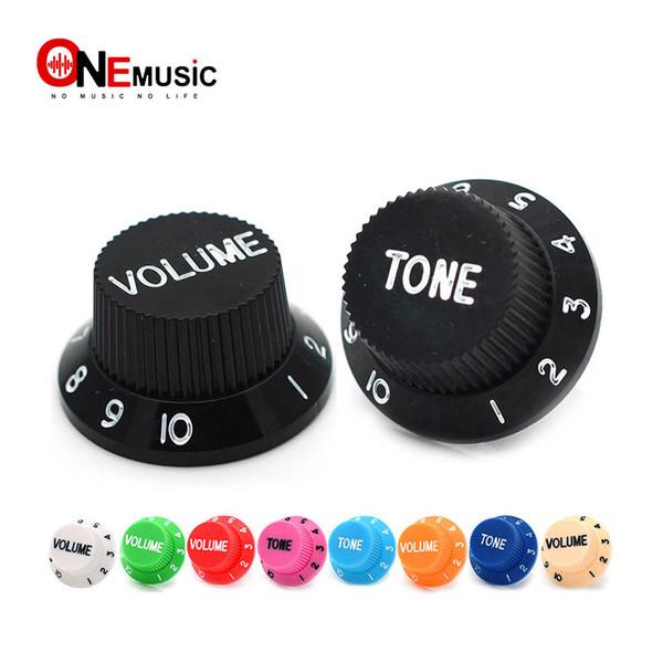Multi Color Electric Guitar Speed Control Knobs Guitar Pot Buttons Cap (1 Volume & 2 Tone A Set)
