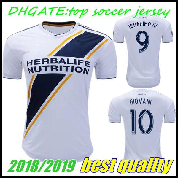 Camiseta de fútbol FANS LA Galaxy 2018 IBRAHIMOVIC 18 19 Los Angeles Camisa  GERRARD GIOVANI BECKHAM bbb5571f44173