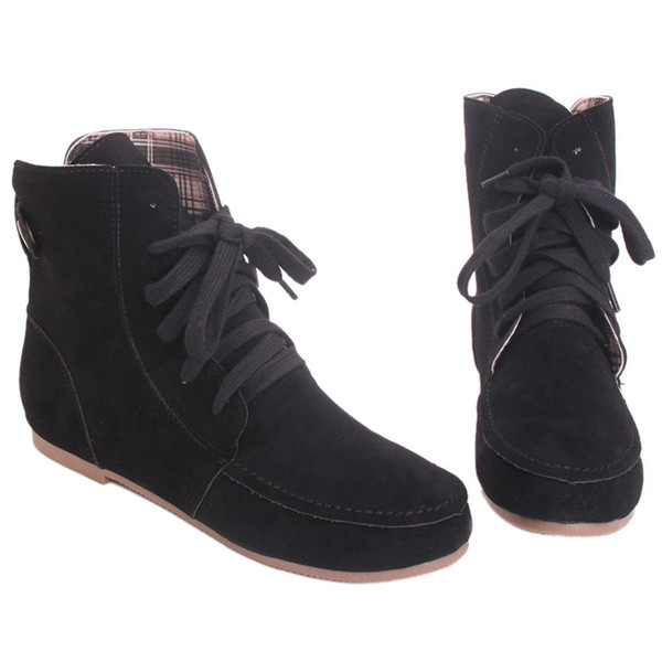 Autumn And Winter Boots Women Snow Boots Female  Suede Leather Ankle Lovers Couples Shoes Women