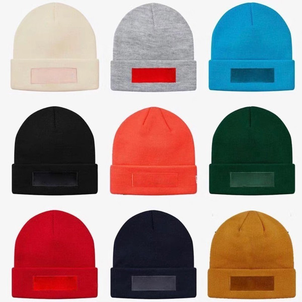18FW New Era Box Logo Beanie Cap Knitted Cold Hat Cap Street Travel Fishing Casual Autumn Winter Hat Warm Outdoor Sport Hats HFLSMZ047